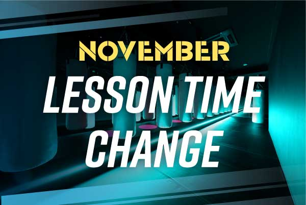 11月11日(月)より全スタジオレッスン時間変更のお知らせ。